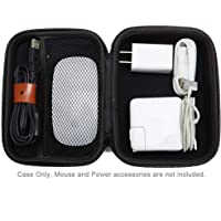 CoWalkers Estuche Adaptador de Corriente, Funda rígido Compatible con Apple Pencil, Magic Mouse, Adaptador de Corriente Magsafe, Cable de Carga magnético(Negro)