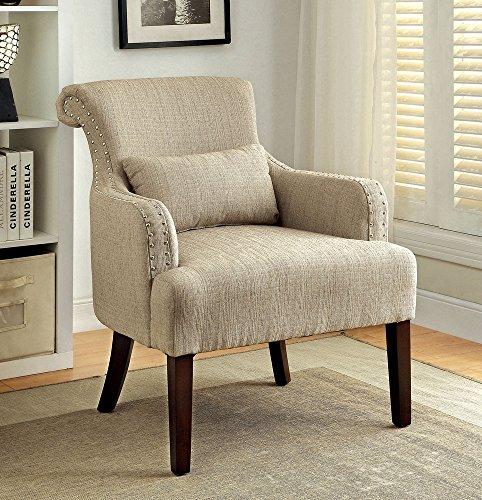 247SHOPATHOME IDF-AC6113BG Living-Room-Chairs, Beige Review