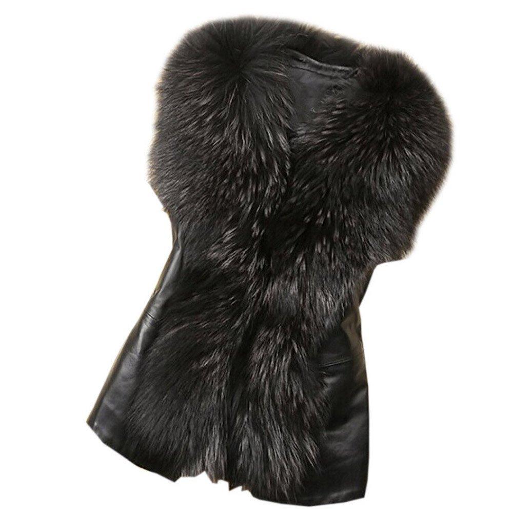 Kunstpelz Weste Sunday Damen Kunstpelz Leder Mode Jacke ärmellose Winter Körper