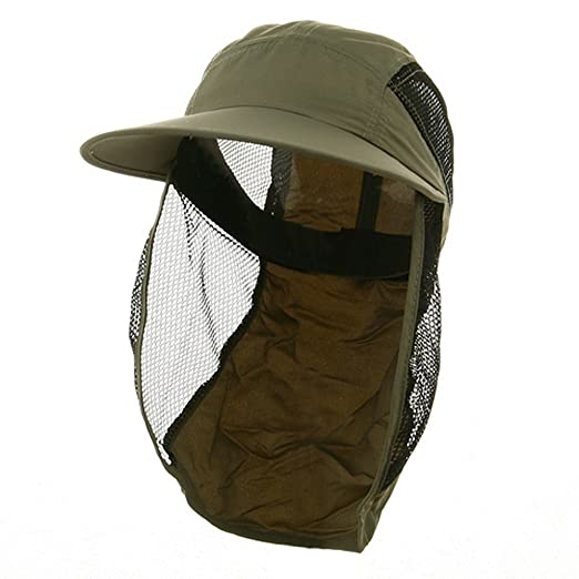 82ccff2f UV 50+ Protection Outdoor Flap Cap - Olive at Amazon Women's Clothing store:  Sun Hats