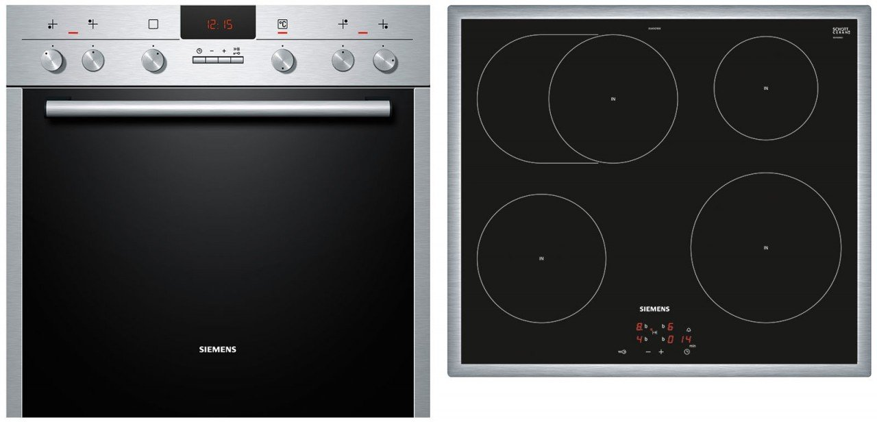 Siemens EQ271EI3GH Con placa de inducción Horno eléctrico sets de electrodoméstico de cocina - Sets de electrodomésticos de cocina (Con placa de inducción, ...
