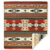 "Ecuadane Southwestern Large blanket made in Ecuador 82"" x 93"""