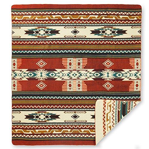 """Alpaca Wool Throw (Ecuadane Southwestern Large blanket made in Ecuador 82"""" x 93"""")"""