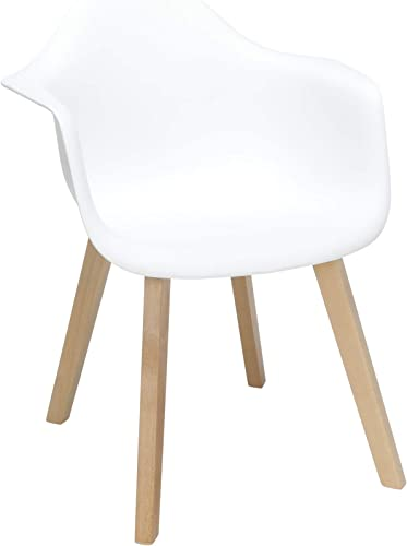 OFM 161 Collection Mid Century Modern 2 Pack Plastic Molded Accent Chairs