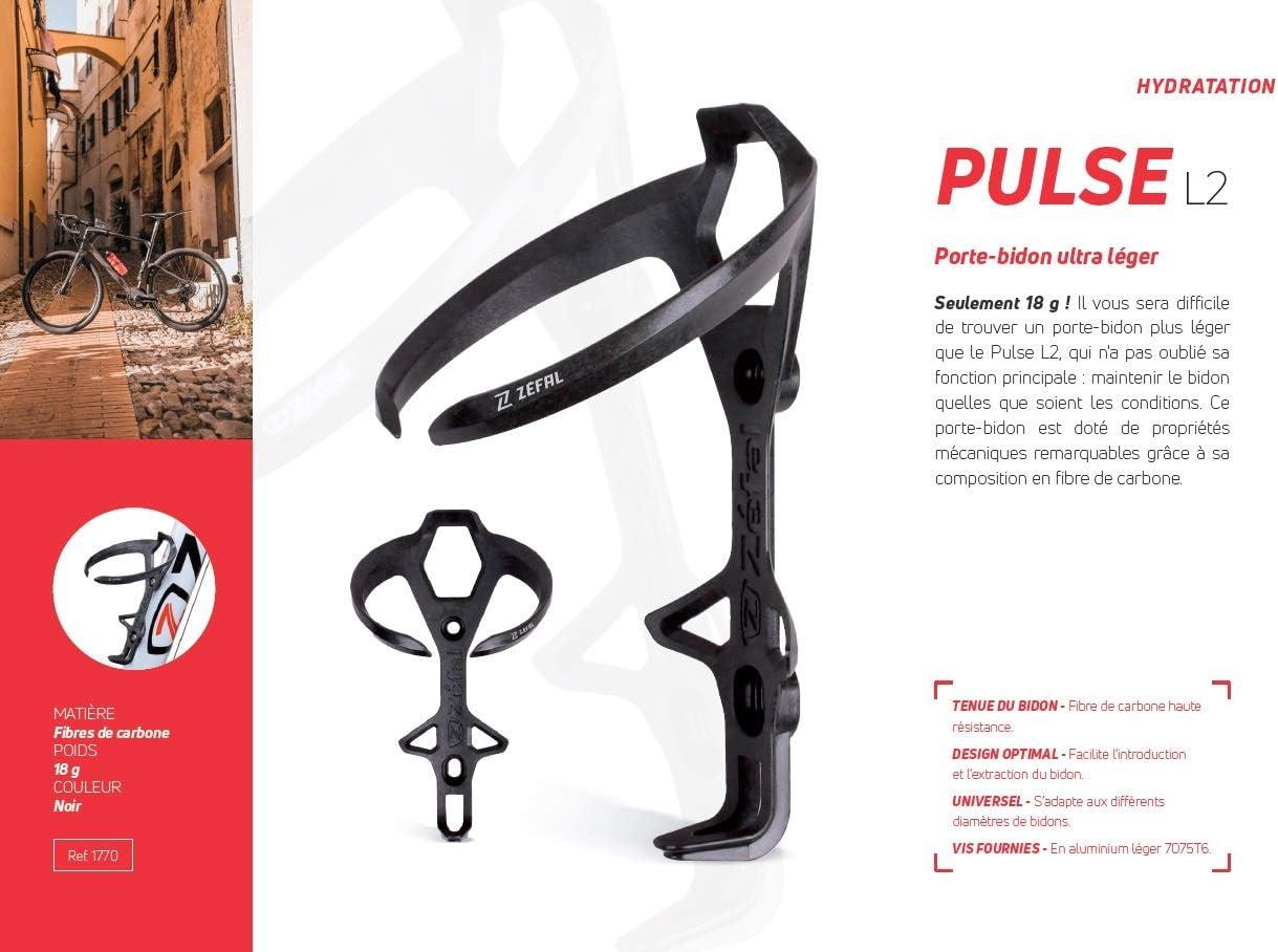 Noir Taille Universelle ZEFAL Pulse L2 Porte-bidon Cyclisme