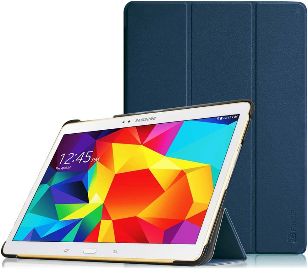 Fintie Funda para Samsung Galaxy Tab S 10.5 - Súper Delgada y Ligera Carcasa con Función de Soporte y Auto-Reposo/Activación para Samsung Galaxy Tab S 10.5 T800 T805, Azul Oscuro