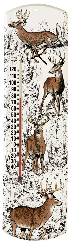 Heritage America by MORCO 375WD Whitetail Deer Outdoor or Indoor Thermometer, 20-Inch
