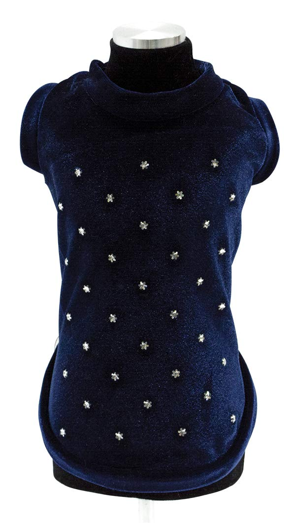 Trilly tutti Brilli Ulysse Chenille T-Shirt with Thermal Application, Swarovski bluee, Large