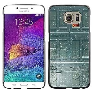 Be Good Phone Accessory // Dura Cáscara cubierta Protectora Caso Carcasa Funda de Protección para Samsung Galaxy S6 SM-G920 // Snow Winter Deep Sad Lights Night