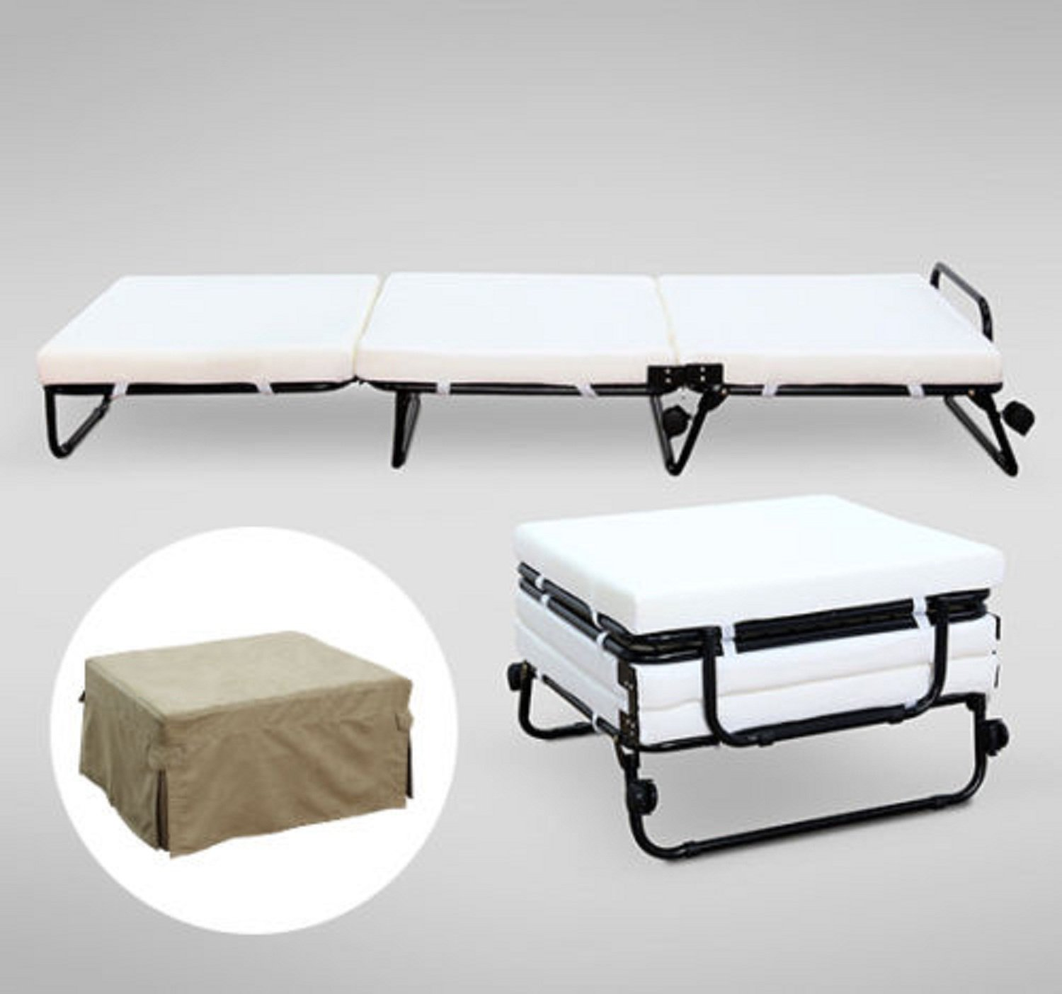 Gracelove Folding Convertible Sofa Bed Ottoman Couch