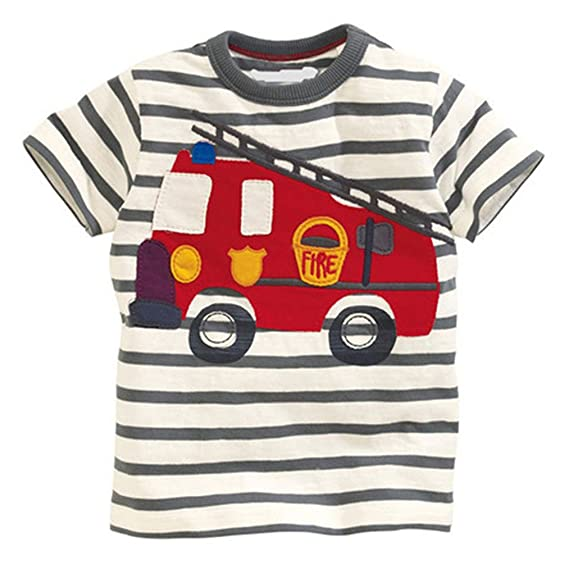 Amazon.com: Kang Mei 2018 New Summer Baby Boys Clothes Short Sleeve O-Neck T Shirt Pure Cotton Fire: Clothing