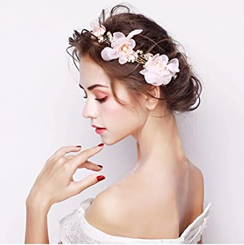 Lym Kopfbedeckungen Blumenkranz Kinder Kranz Haar Zubehor
