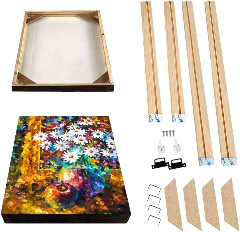 Stretcher Bars,Wood Canvas Frame Kit,DIY Canvas framm for Oil Painting,Art Stretcher Bars 75x75cm 30x30 Inch