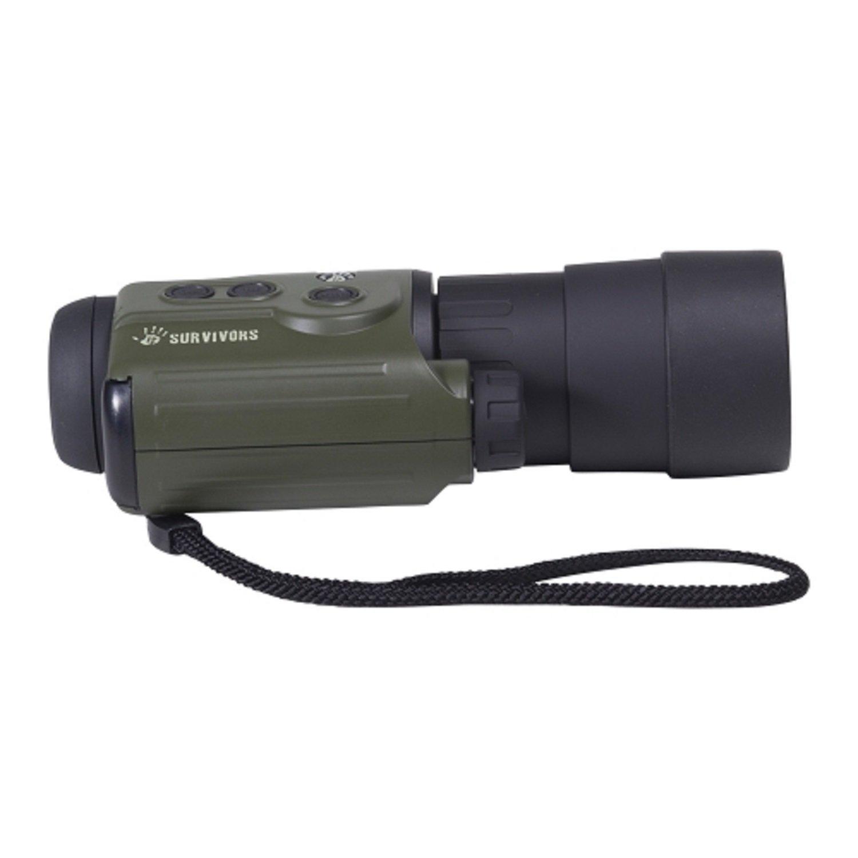 12 Survivors Trace 5x50 Digital Night Vision Recording Monocular, Green