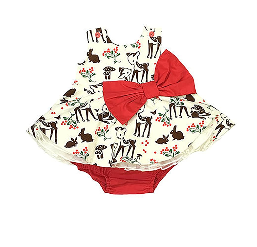 Amazon.com: Five Loaves Two Fish Awesome Little Deer Party Dress ...