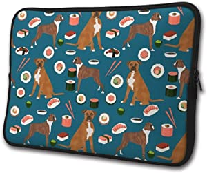 Boxer Dog Sushi Business Briefcase Laptop Sleeve Bag/Handbag 13/15 Inch