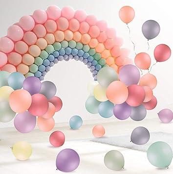rencontrer produits chauds attrayant et durable FORMIZON Ballon Pastel, 120Pcs Macaron Couleur Pastel Ballon en Latex pour  Decoration Anniversaire, Decoration Bapteme Fille, Mariage, Cérémonie