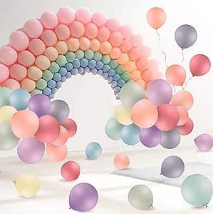 FORMIZON 120 Pcs Globos Pastel, Macaron Látex Globos de Cumpleaños para Decoración Fiesta/Día de San Valentín/Decoraciones/Navidad/Comunión Bodas: Amazon.es: Juguetes y juegos