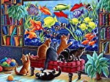 #6: Vermont Christmas Company Kittens Fishing Jigsaw Puzzle 550 Piece