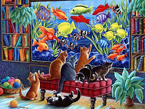 Vermont Christmas Company Kittens Fishing Jigsaw Puzzle 550 Piece