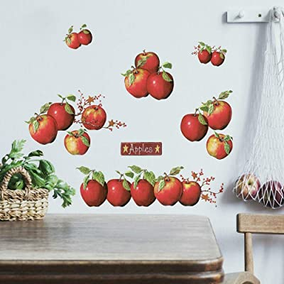 RoomMates Country Apples Peel and Stick Wall Decals - RMK1570SCS: Home Improvement