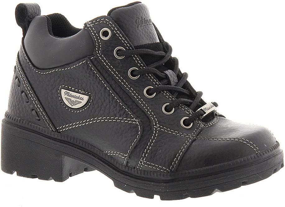 Black, Size 10.5B Milwaukee Motorcycle Clothing Company Womens Deceiver Boots