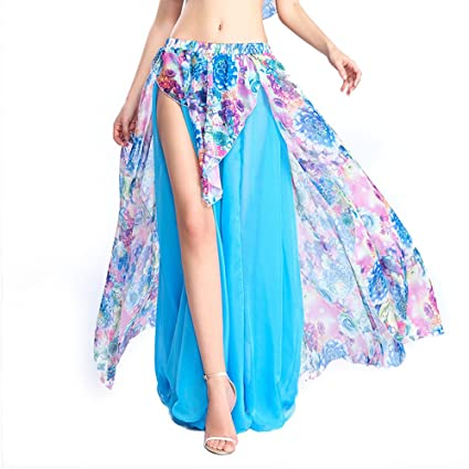 ROYAL SMEELA Falda de Danza del Vientre Mujer Chicas Azul Claro ...