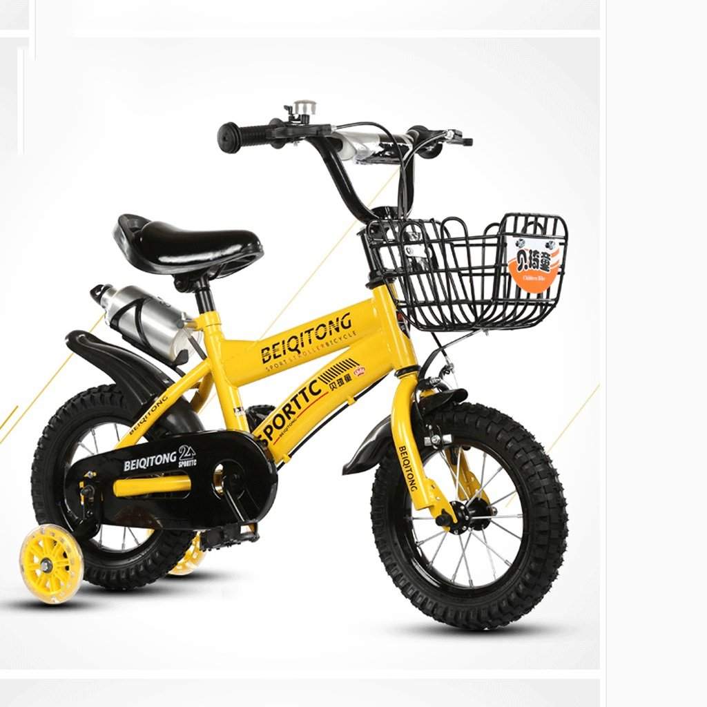 DGF 子供の自転車2-10歳の自転車の赤ちゃんの女の子の赤ちゃんのキャリッジ14/16/18/20インチ屋外の子供の自転車 (色 : イエロー いえろ゜, サイズ さいず : 12インチ) B07F1D39J8 12インチ|イエロー いえろ゜ イエロー いえろ゜ 12インチ