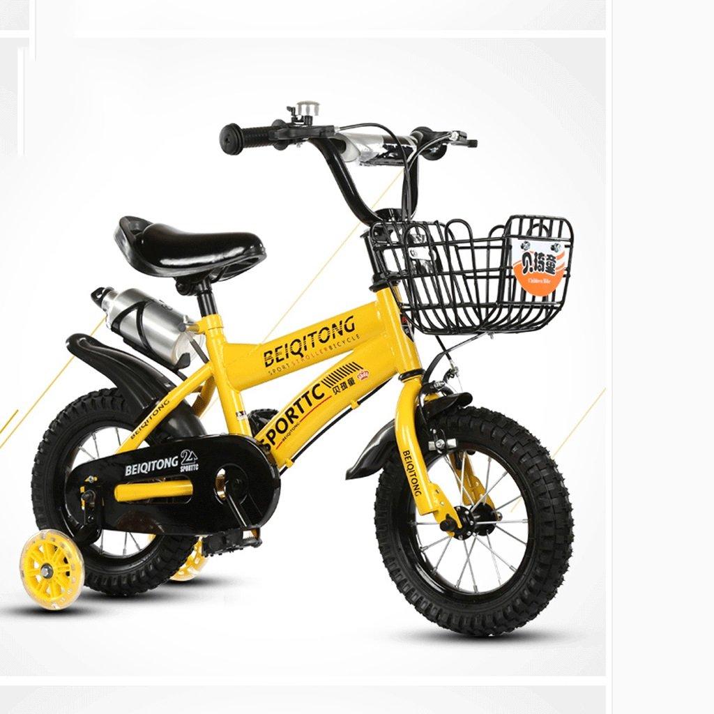 DGF 子供の自転車2-10歳の自転車の赤ちゃんの女の子の赤ちゃんのキャリッジ14/16/18/20インチ屋外の子供の自転車 (色 : イエロー いえろ゜, サイズ さいず : 16 inches) B07F11MKXQ 16 inches|イエロー いえろ゜ イエロー いえろ゜ 16 inches
