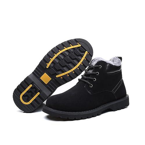 gracosy Herren Damen Winter Stiefel, Warme Schneestiefel Gefüttert Winterschuhe Desert Boot Classic Ankle Boots Komfort Kurzschaft Stiefeletten