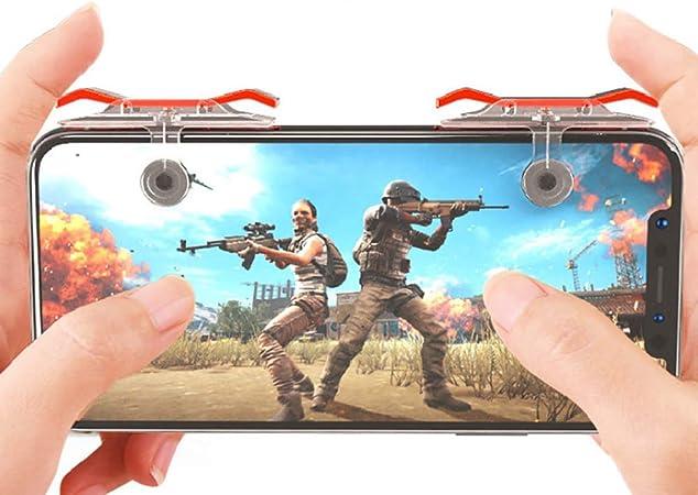 Fangfeen 1 Bouton Paire Mobile Controller Jeu Remplacement pour PUBG Mobile Gaming Trigger Joysticks Grip