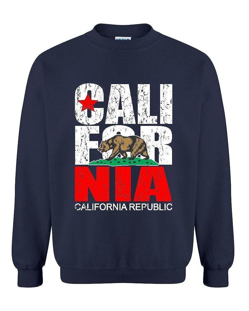 ARTIX California Republic Vintage Unisex Crewneck California Fashion Sweatshirts