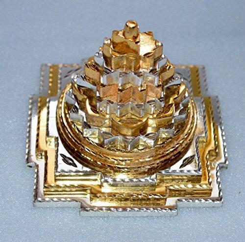 Meru yantra 3D Sri Shri meru yantra Brass Ashtadhatu Shree Shri Laxmi yantra Sri Yantra Energized - Spiritual powers peace health wealth financial prosperity BIG Approx. 4x4'' Inches 850 gms -US seller by Awaken Your Kundalini - For Genuine Gemstone Hand Knotted Japa Mala Beads Necklace & Bracelets (Image #5)