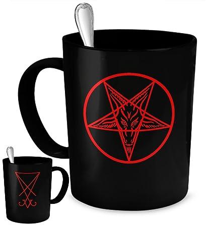 Amazon Esoteric Coffee Mug Satan And Lucifer Seal Black Mug