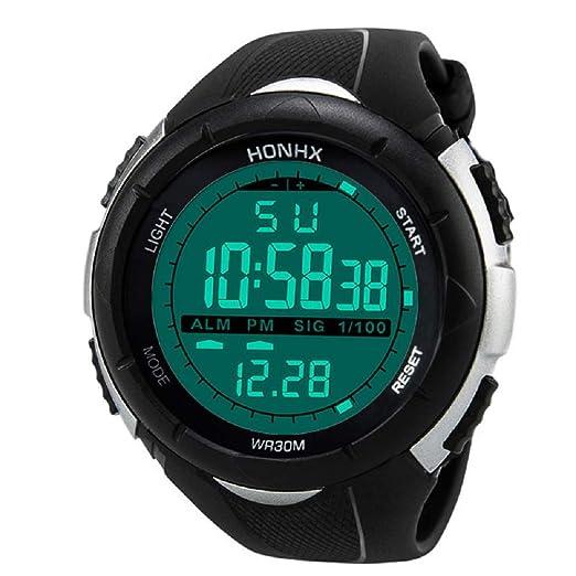 Gusspower Relojes Deportivo Digital para Hombres Adolescentes y Niño Multifunción 30m Impermeable Cuenta Regresiva LED Casual Reloj con Cronómetro para ...