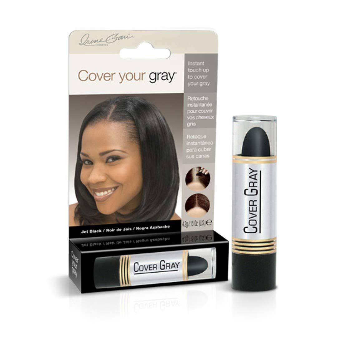 Cover Your Gray Hair Color Touch-Up Stick - Jet Black (6-Pack) by Cover Your Gray