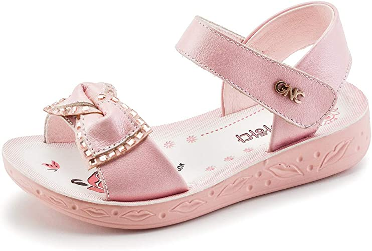 Kids Girls Summer Holiday Crystal Sandals Infant Princess Elastic Flat Shoes New