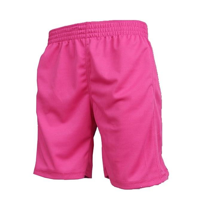 LaoZanA Pantaloncini da Uomo Allenamento Pallacanestro Pantaloncini Fitness  Asciugatura Rapida Sport Sciolto Pantaloni Corti Pink 3XL  Amazon.it  ... d95b78ecf0c7