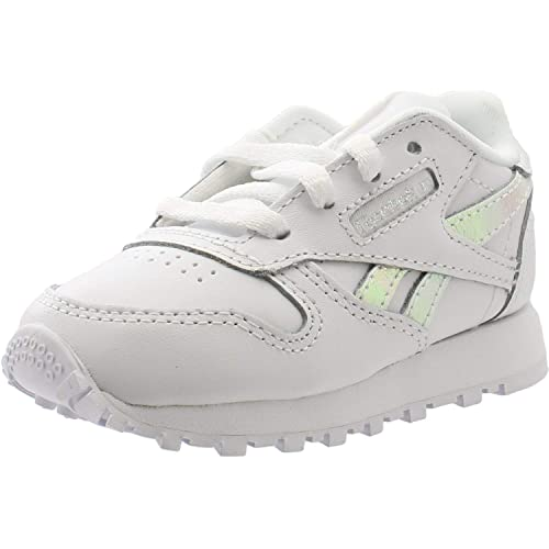 36bb1650fdc1 Reebok Classic Leather White Iridescent Leather Infant Trainers ...