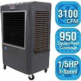 HESSAIRE MC37V Portable Evaporative Cooler, 3100 Cubic Feet per Minute, Cools 950 Square Feet