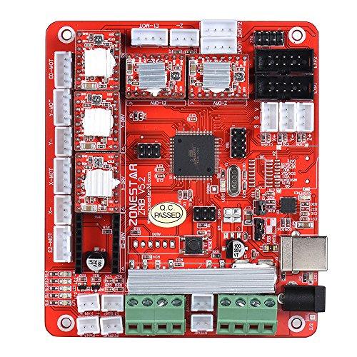 ZONESTAR ZRIB Controller Board Motherboard Mainboard Adopt ATMEGA 2560 MCU Compatible for RAMPS 1.4 RepRap Mendel i3 FDM 3D Printer DIY Self Assembly Parts by ZONESTAR