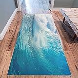 Cheap InterestPrint Ocean Heavy Waves Modern Area Rug Carpet 10′ x 3'3″, Tropical Surfing Water Nautical Decorative Floor Mat Rugs for Office Living Room Bedroom
