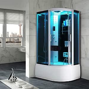 Miami SPAS - Cabina de ducha para baño (800 x 1200 mm): Amazon.es: Bricolaje y herramientas
