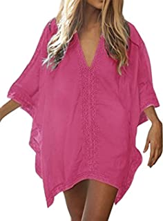 ef2d540c01 Walant Womens Solid Oversized Beach Cover Up Swimsuit Bathing Suit Beach  Dress