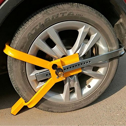 Adjustable Wheel Lock Auto Car Truck Trailer Tire Claw Parking Clamp Towing Boot Anti Theft Tire Security Device 16 Lock Holes by Motorhot (Image #1)