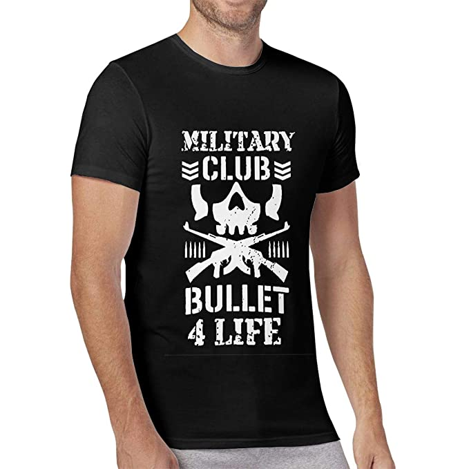 4c93bd72 Mens T Shirt Bullet Club Kenny Omega Grunt Style Crew Neck Tee Shirts Gym  Tees Sports