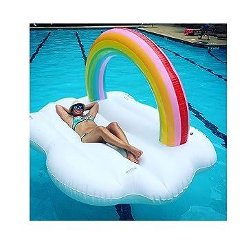Neumático flotante de arco iris flotante en forma de arco iris en ...