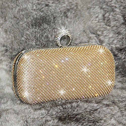 Gold Wlq Femenina Rhinestone Clutch Bolsa Dinner Ladies Party De Con Dorado Diamantes Bag Xcf Diamond Evening Diagonales At4FRAwq