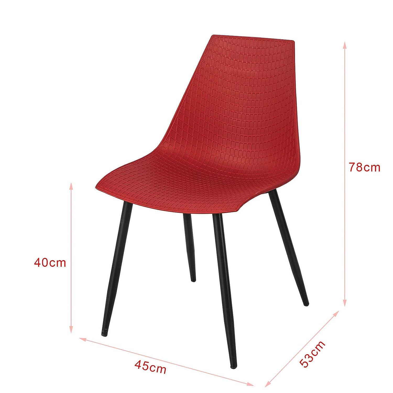 SoBuy Set 2 Sedie Moderno da Sala da Pranzo,Sedie Cucina Sedie colorato FST60-WX2