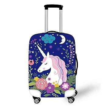 8035ccca6115 OSVINO Cartoon Cute Unicorn Durable Washable Travel Luggage Suitcase  Protector, Unicorn E, L: For 26